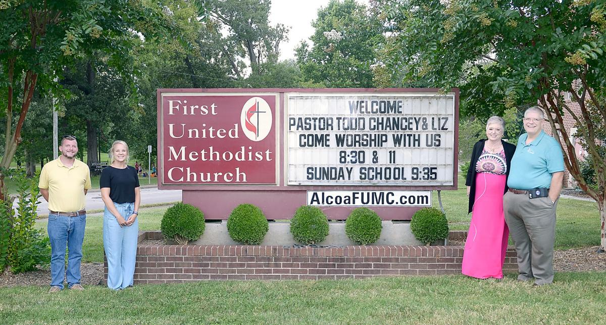 First UMC: Jim Gass, Brooke Strayn, Liz Chancey and Rev. Todd Chancey