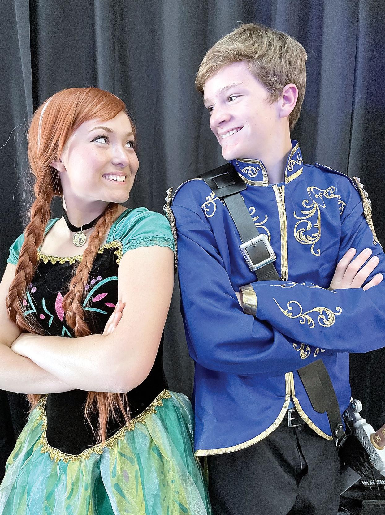 Annie Radar as Princess Anna and Nathaniel Dutton as Prince Hans
