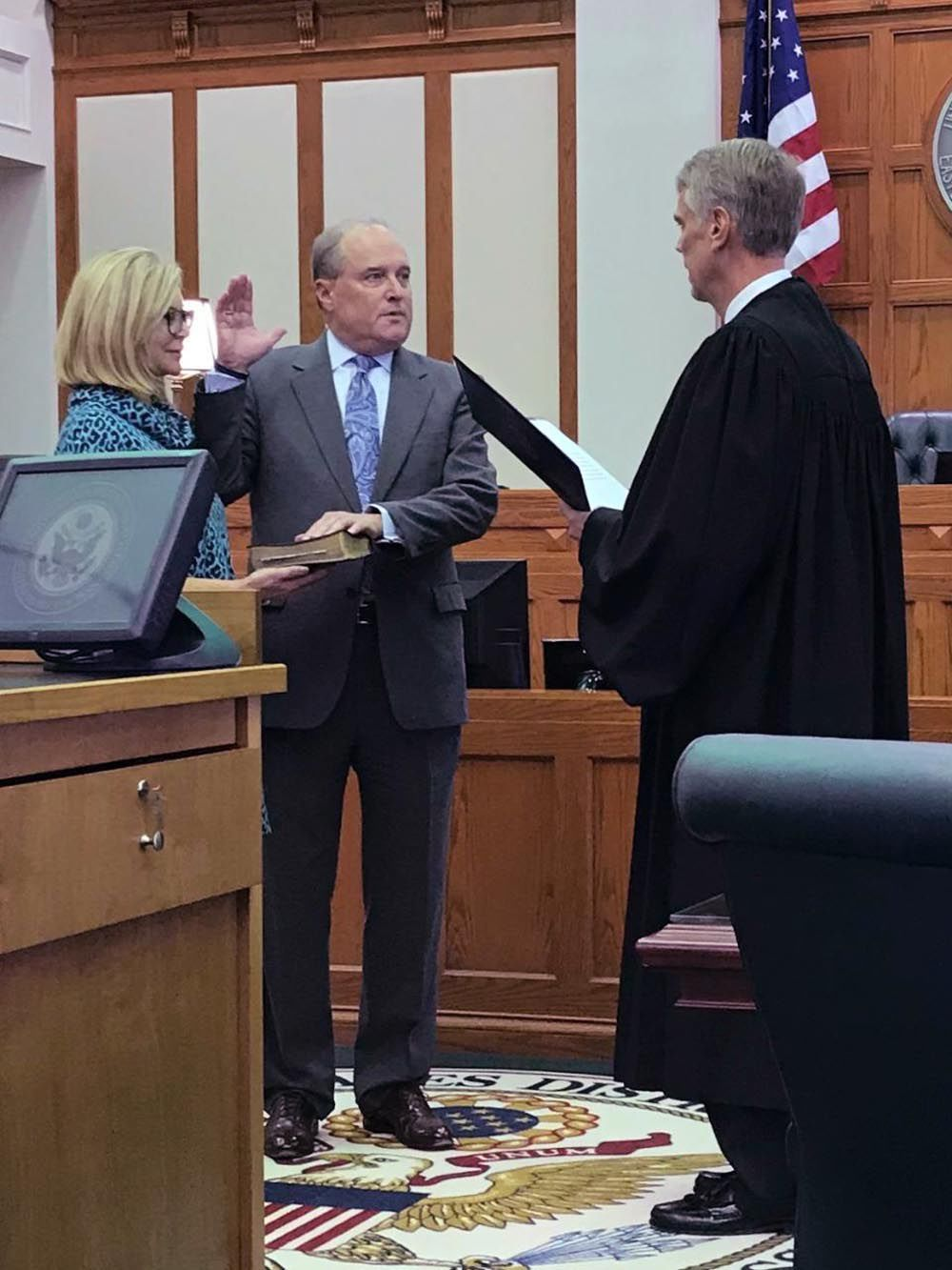 Overbey sworn in as U.S. Attorney
