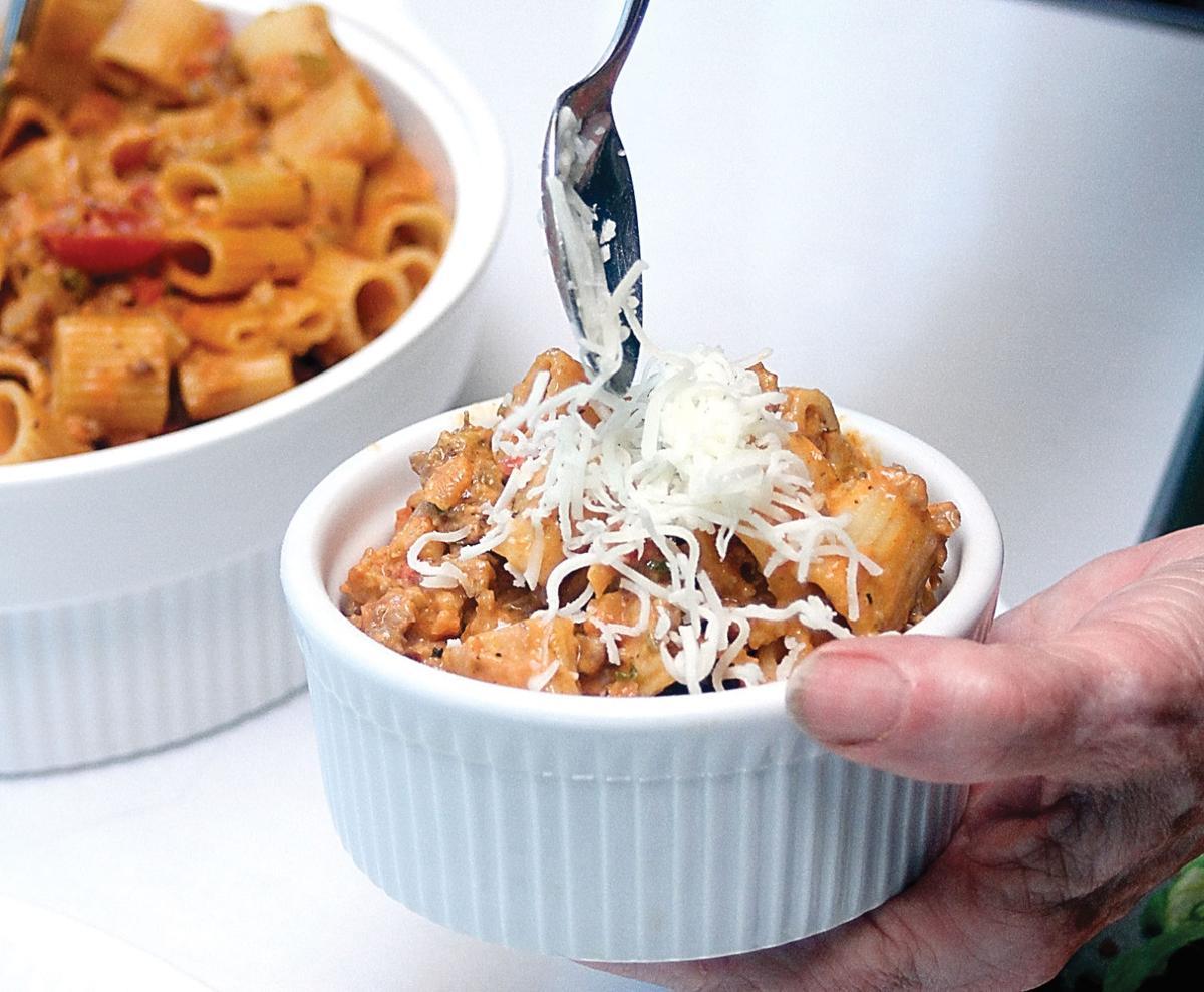 Italian sausage with rigatoni