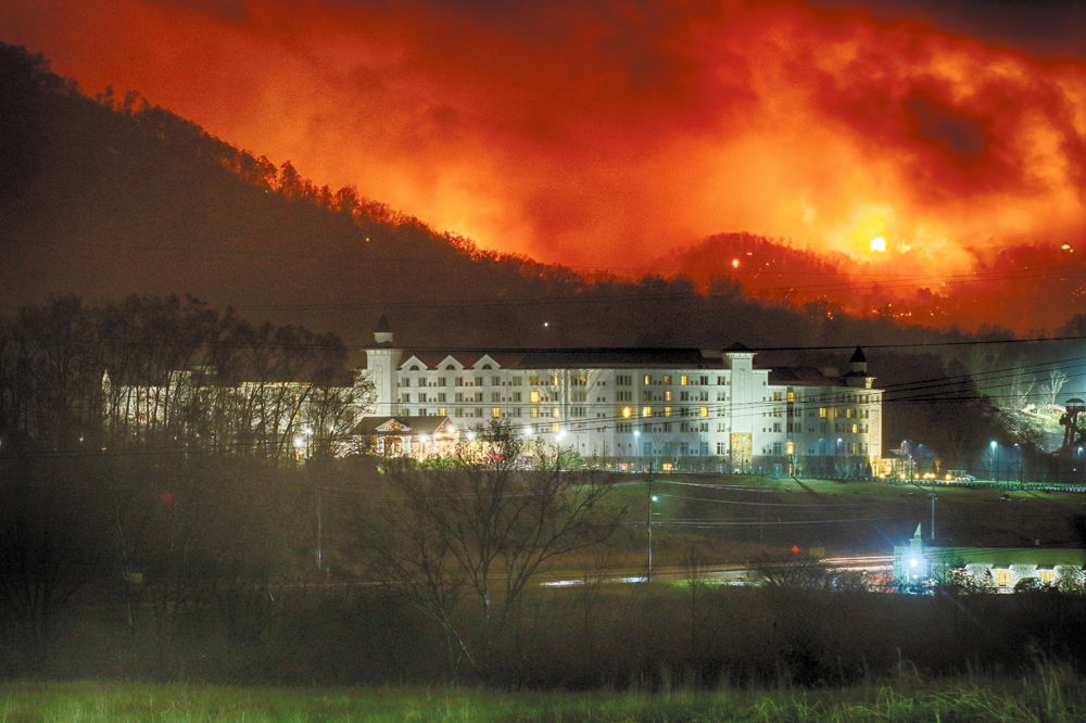 Firestorm: Wildfire Above Dollywood DreamMore Resort