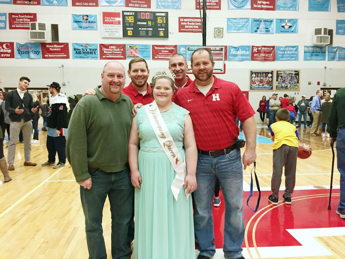 Heritage High buddies with homecoming queen Sierra Morris