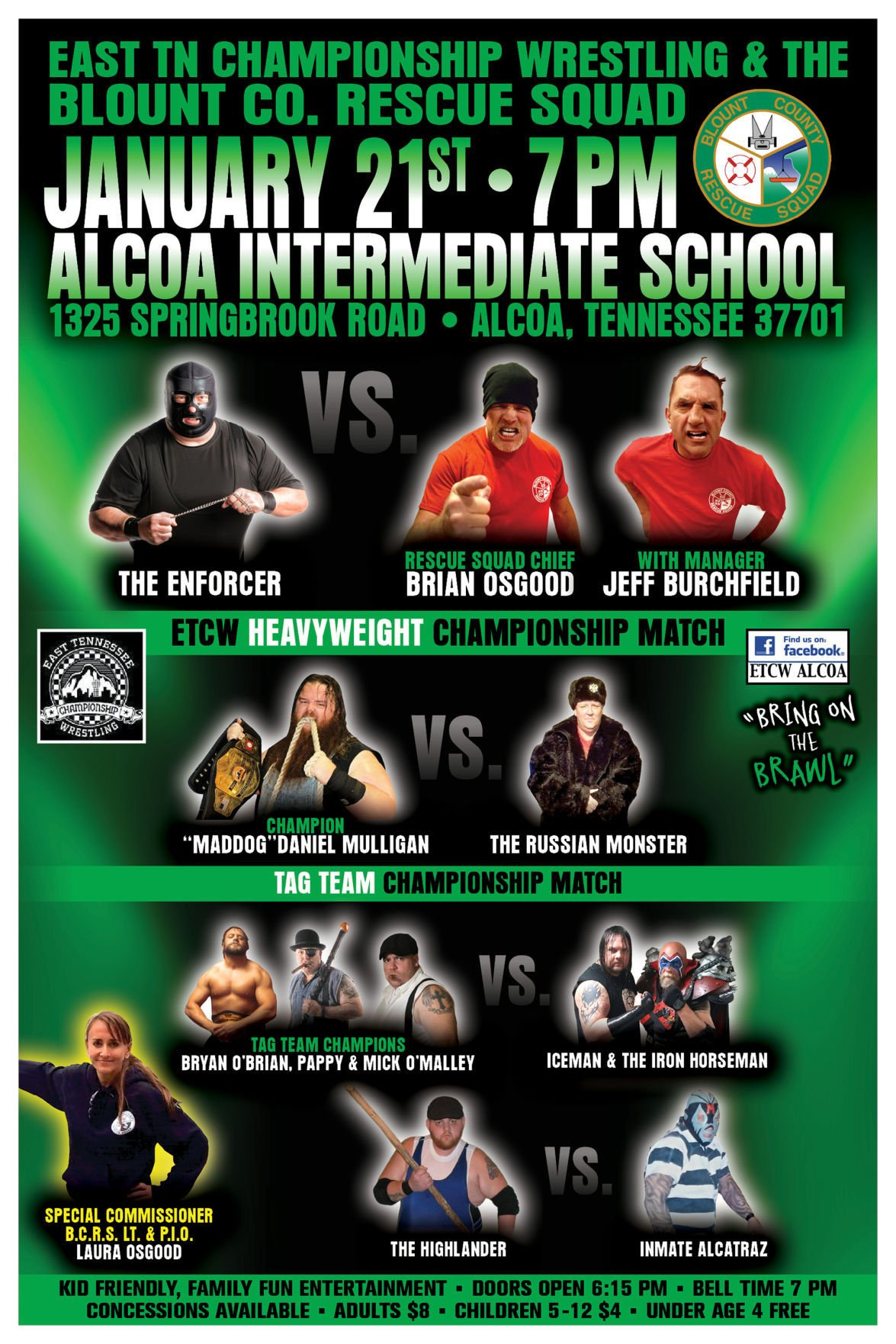 Tennessee blount county alcoa - Enforcer Versus Squadfather Wrestlers Clash To Benefit Blount County Rescue Squad