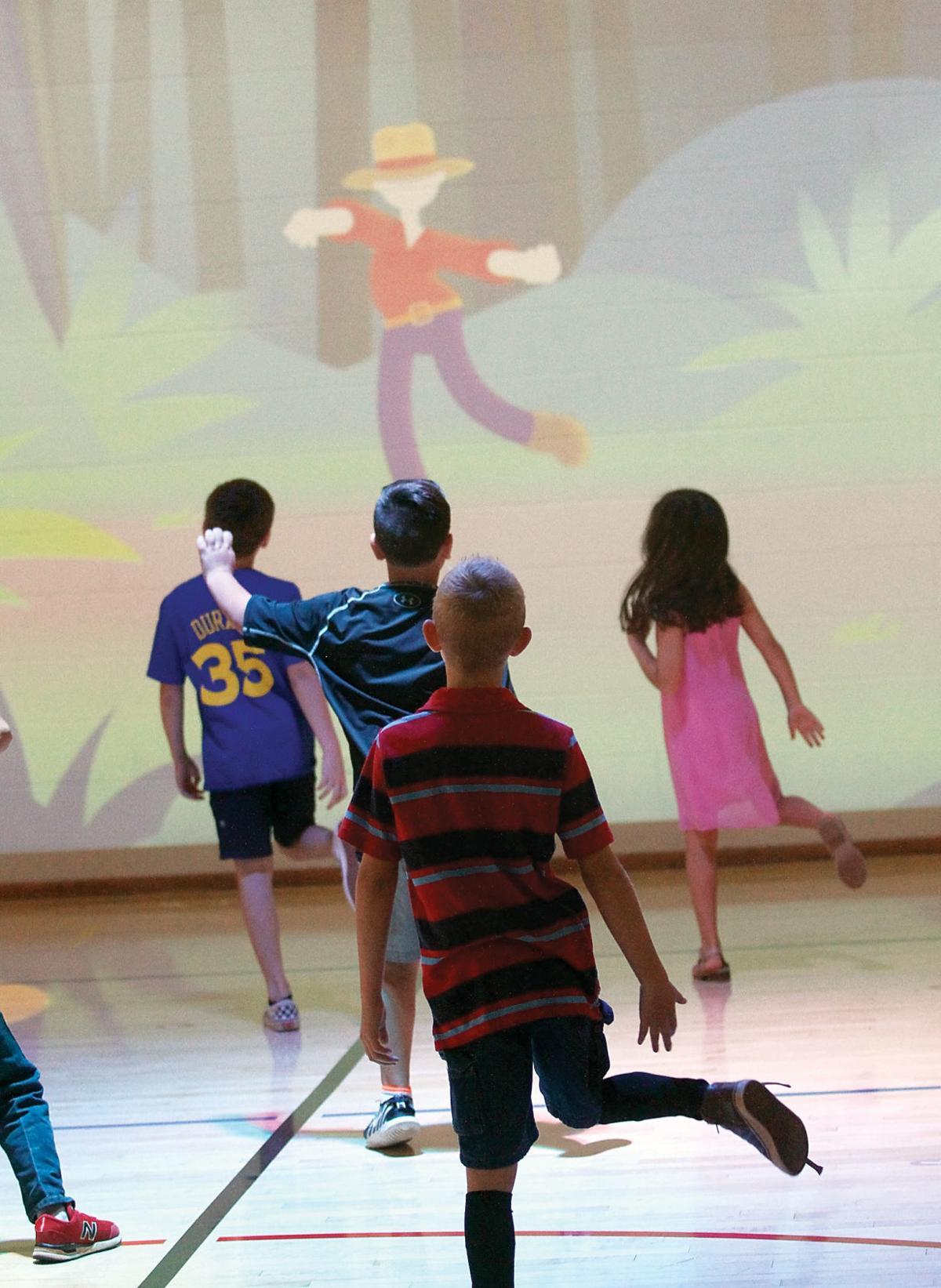 John Sevier Elementary School students dance to a the Lü program Danza