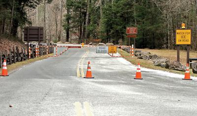 The Road to Cades Cove was closed along with the road to Gatlinburg Monday