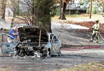 Car Fire on Old McGinley Drive