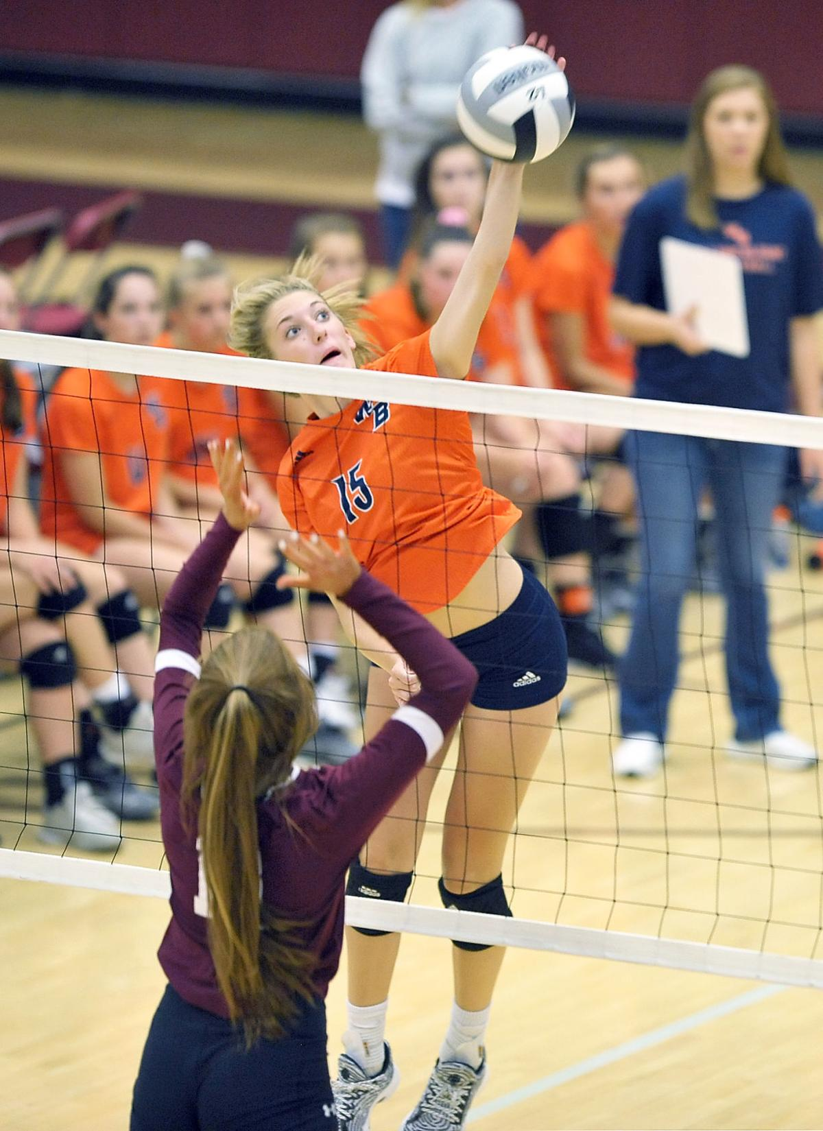 VOLLEYBALL: William Blount's Jenna Forster vs Alcoa