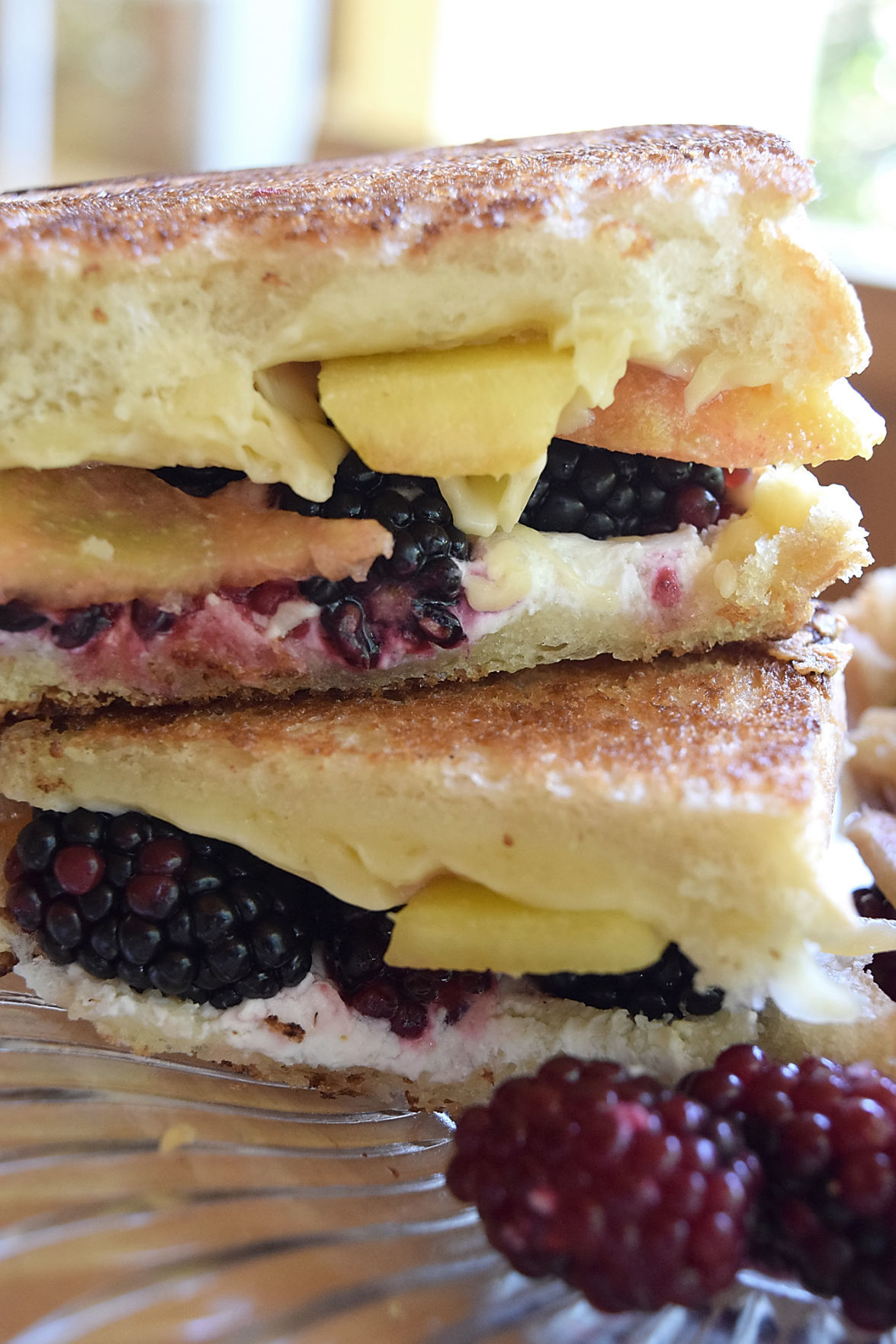 Miss Olivia's - Blackberry & Peach Grilled Cheese