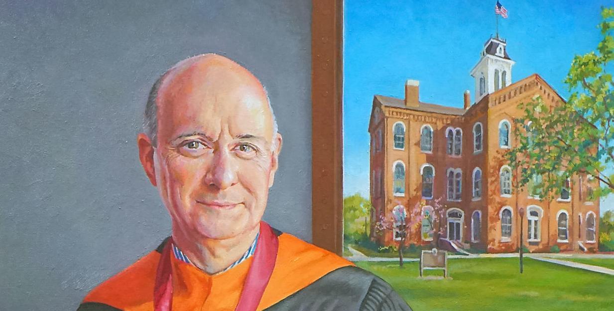 Portrait of Maryville College President Tom Bogart