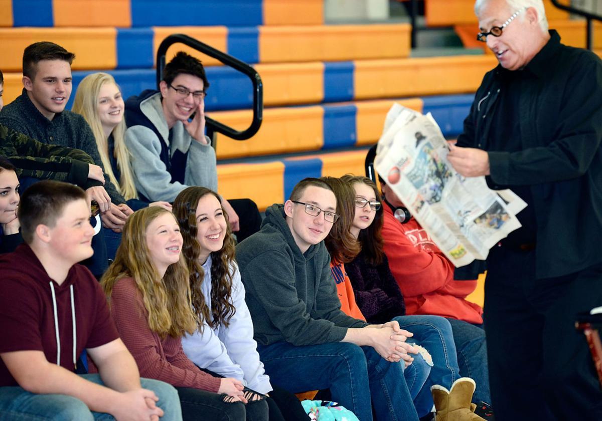 Stephen Bargatze's magic amazes William Blount Ninth Grade Academy students