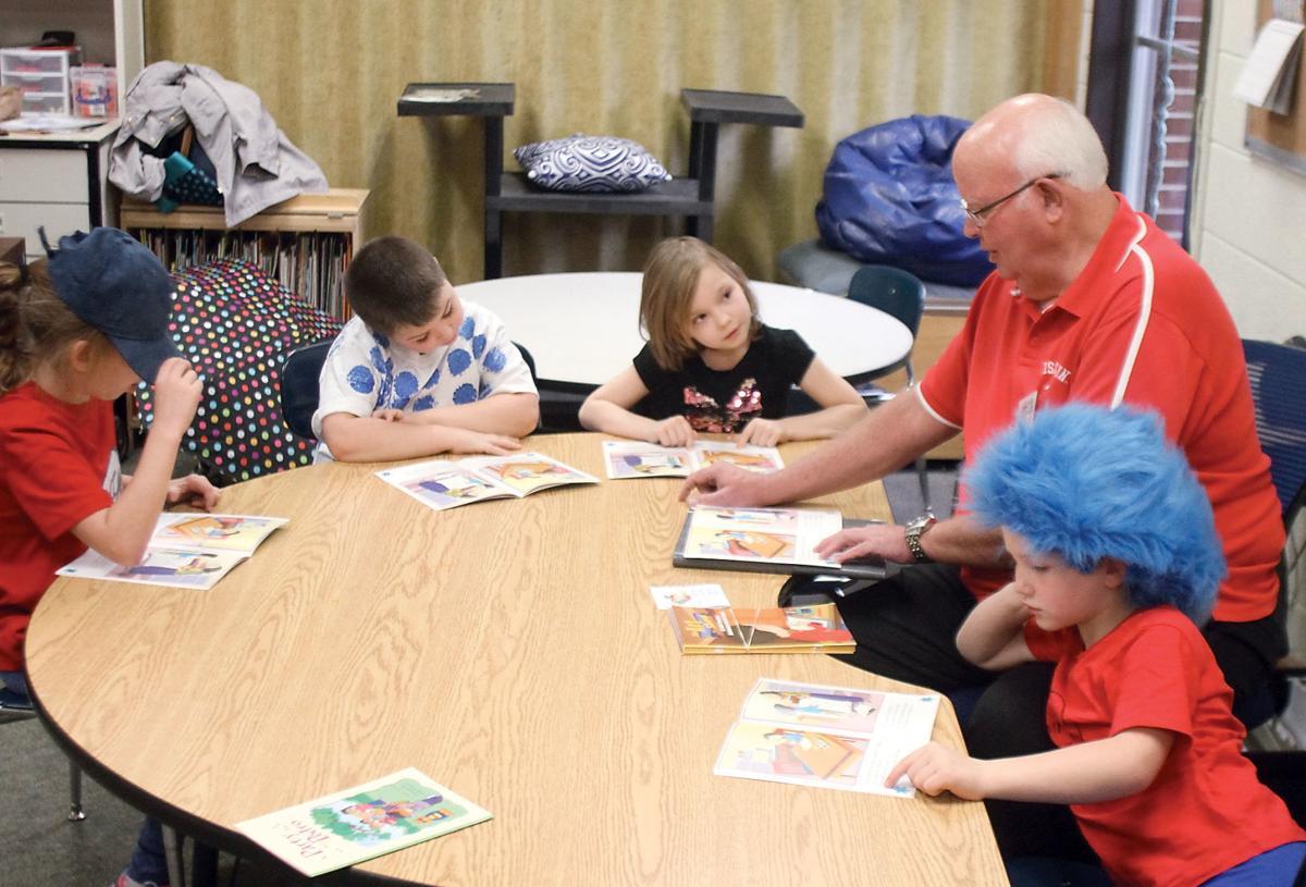 Reading mentor Dave Ogle at Porter Elementary School