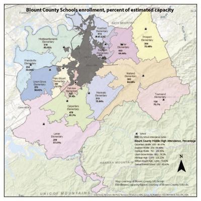 Blount County Schools elementary attendance zones
