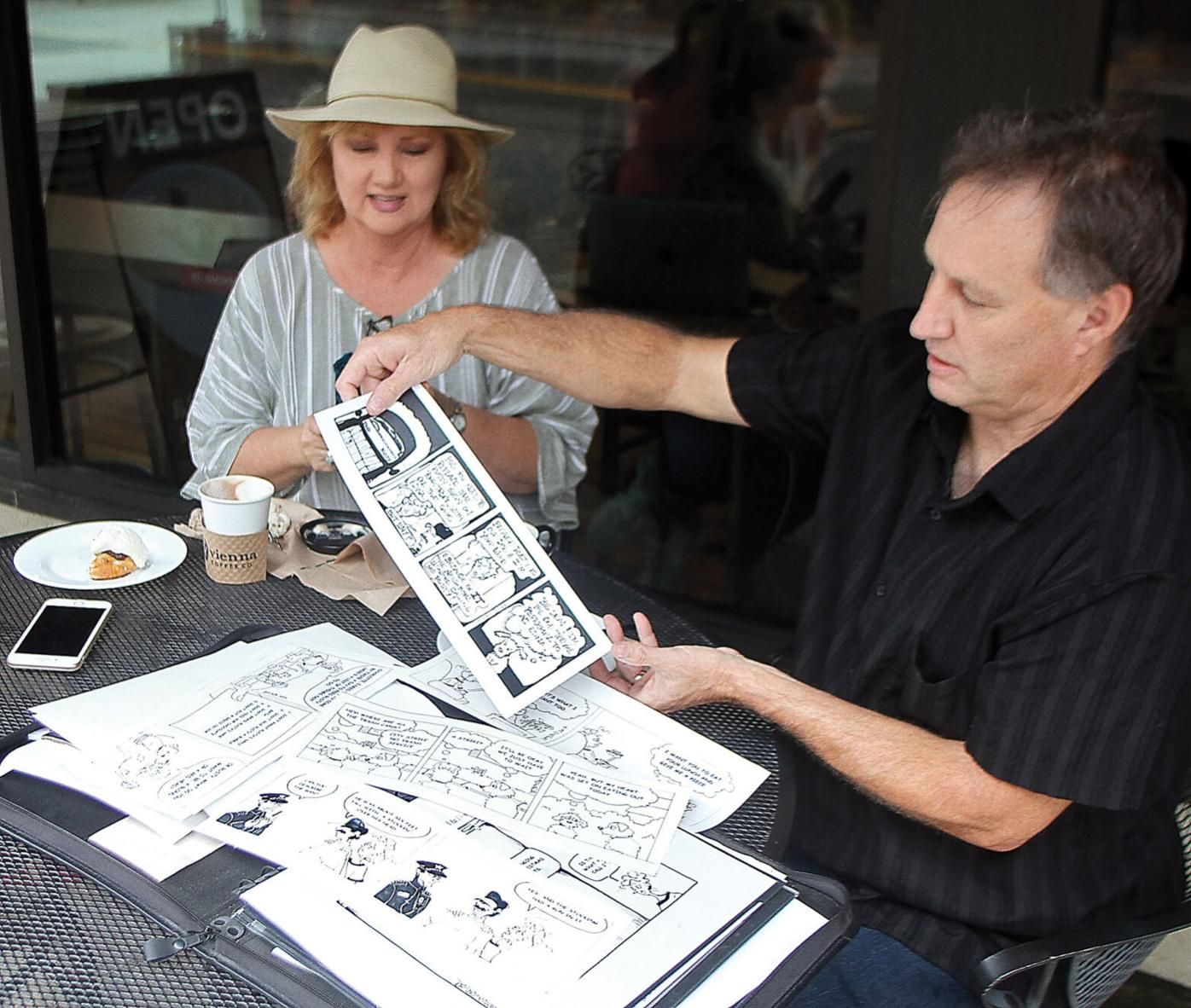 Dave and Doreen Dotson talk about the comic series they draw