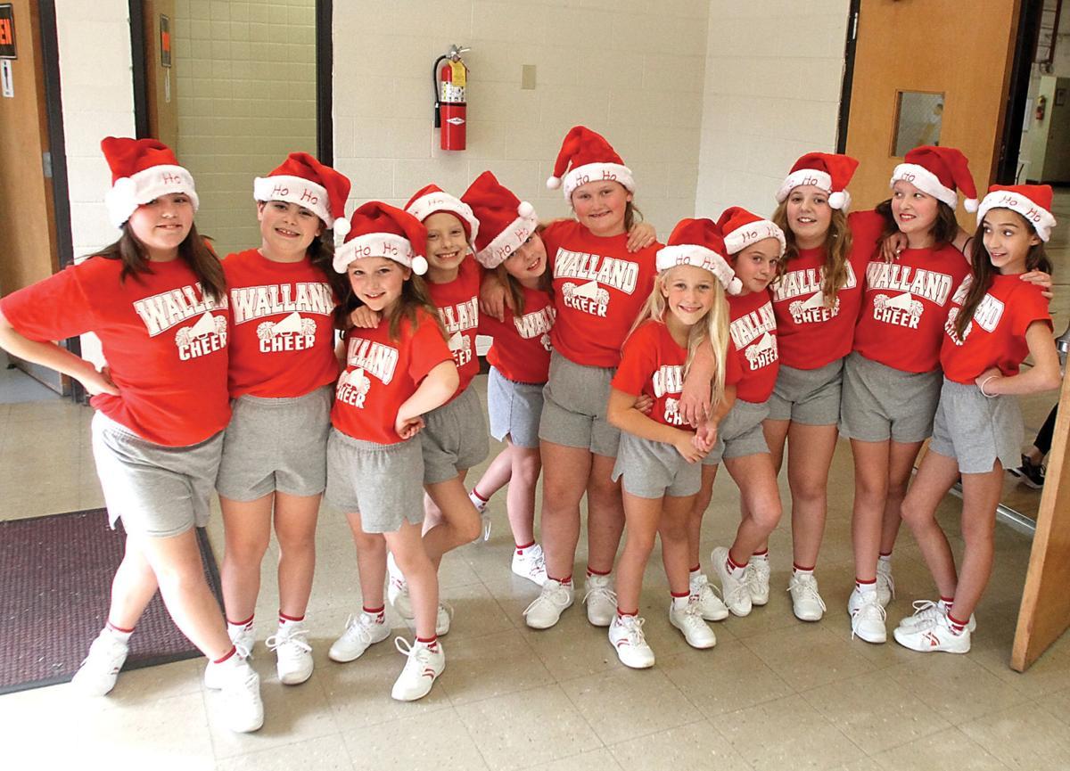 Walland Elementary School cheerleaders