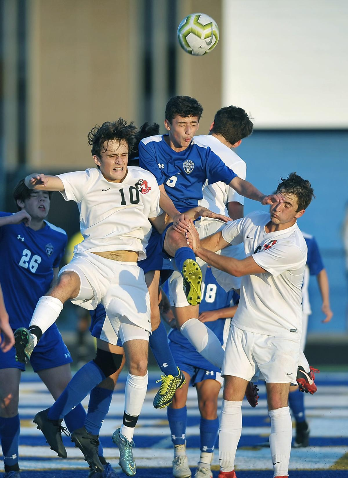 SOCCER: Maryville's Alex Sonner and Colton Griffith vs Karns