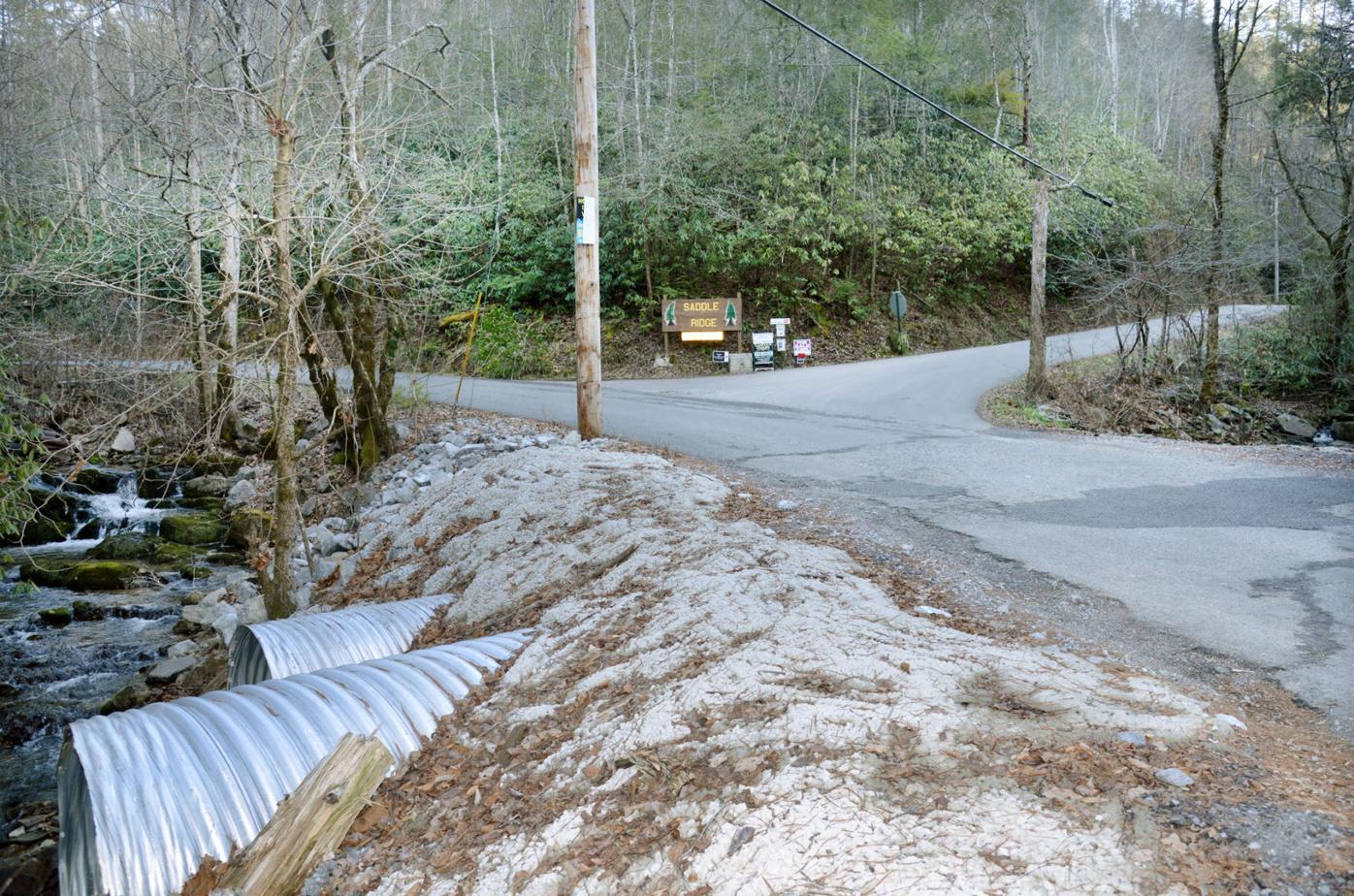 Saddle Ridge entrance on East Millers Cove Road