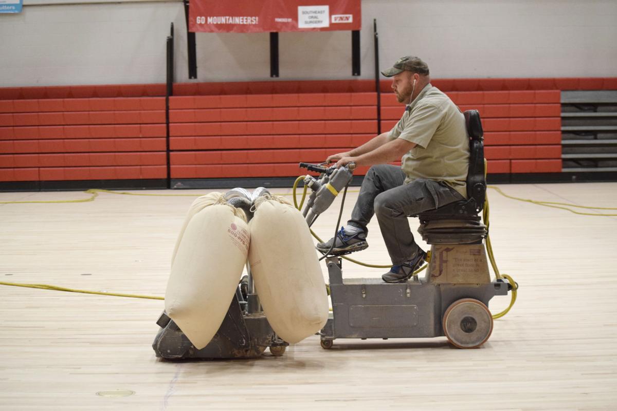 Finchum Sports Floors sands Heritage High School gym