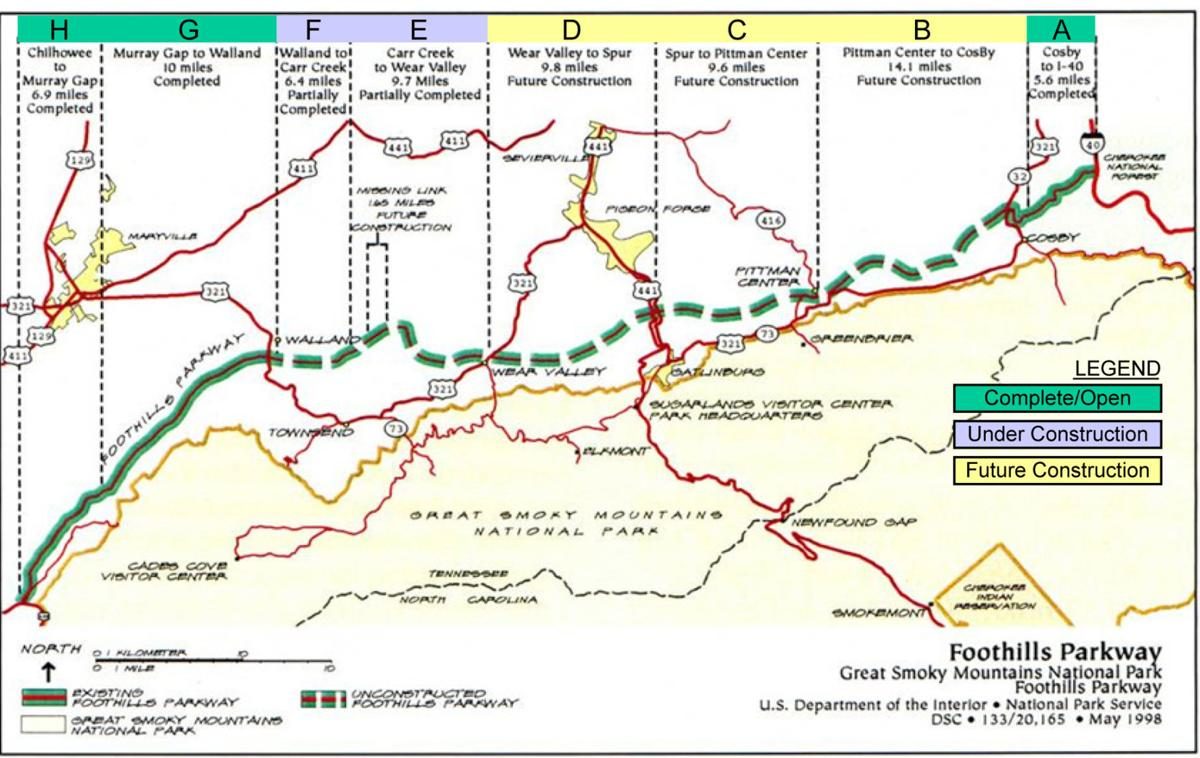 Engineering marvel:\' Foothills Parkway\'s \'missing link\' complete ...