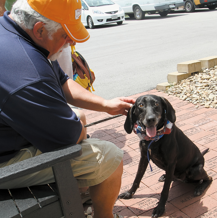 Marc Fair with Annie at Pets for Patriots
