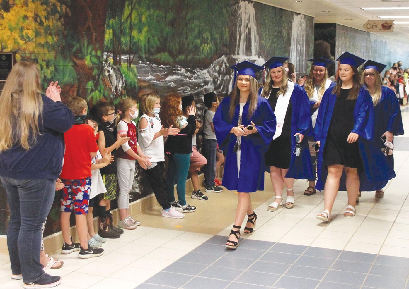 William Blount High School seniors take Legacy Walk at Mary Blount Elementary School