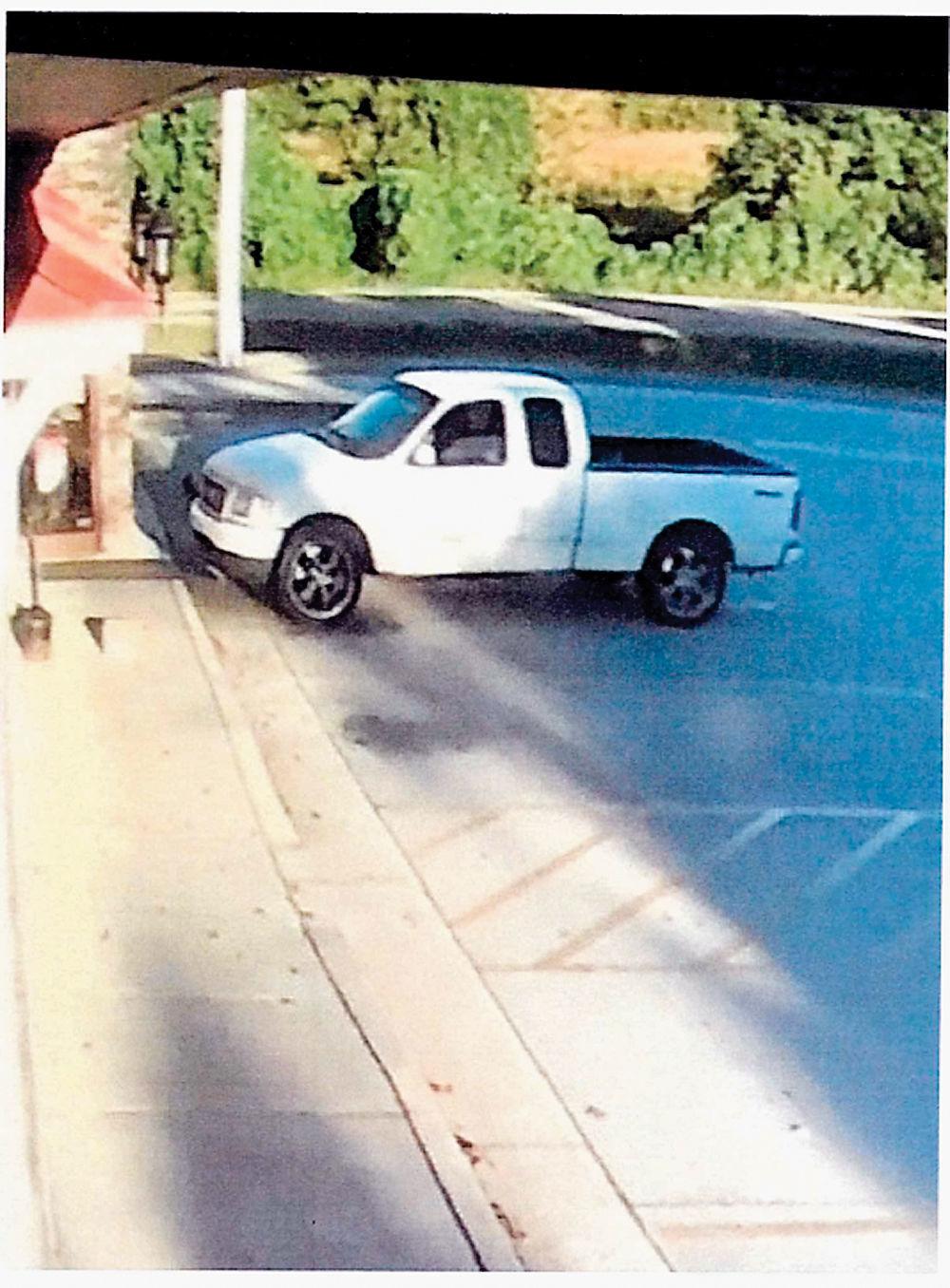 Suspect Bradley McMahan's truck