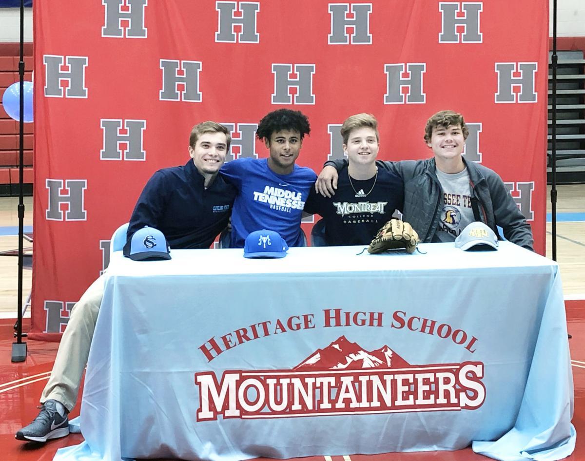 Heritage baseball college signing