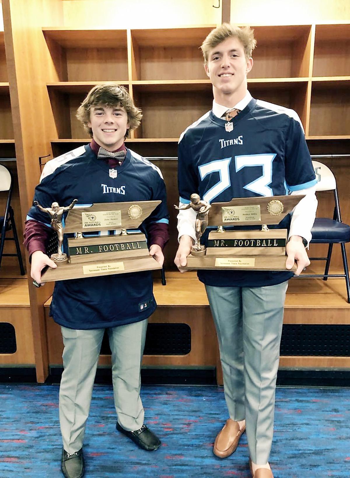 Zeke Rankin and Holden Willis Mr. Football winners