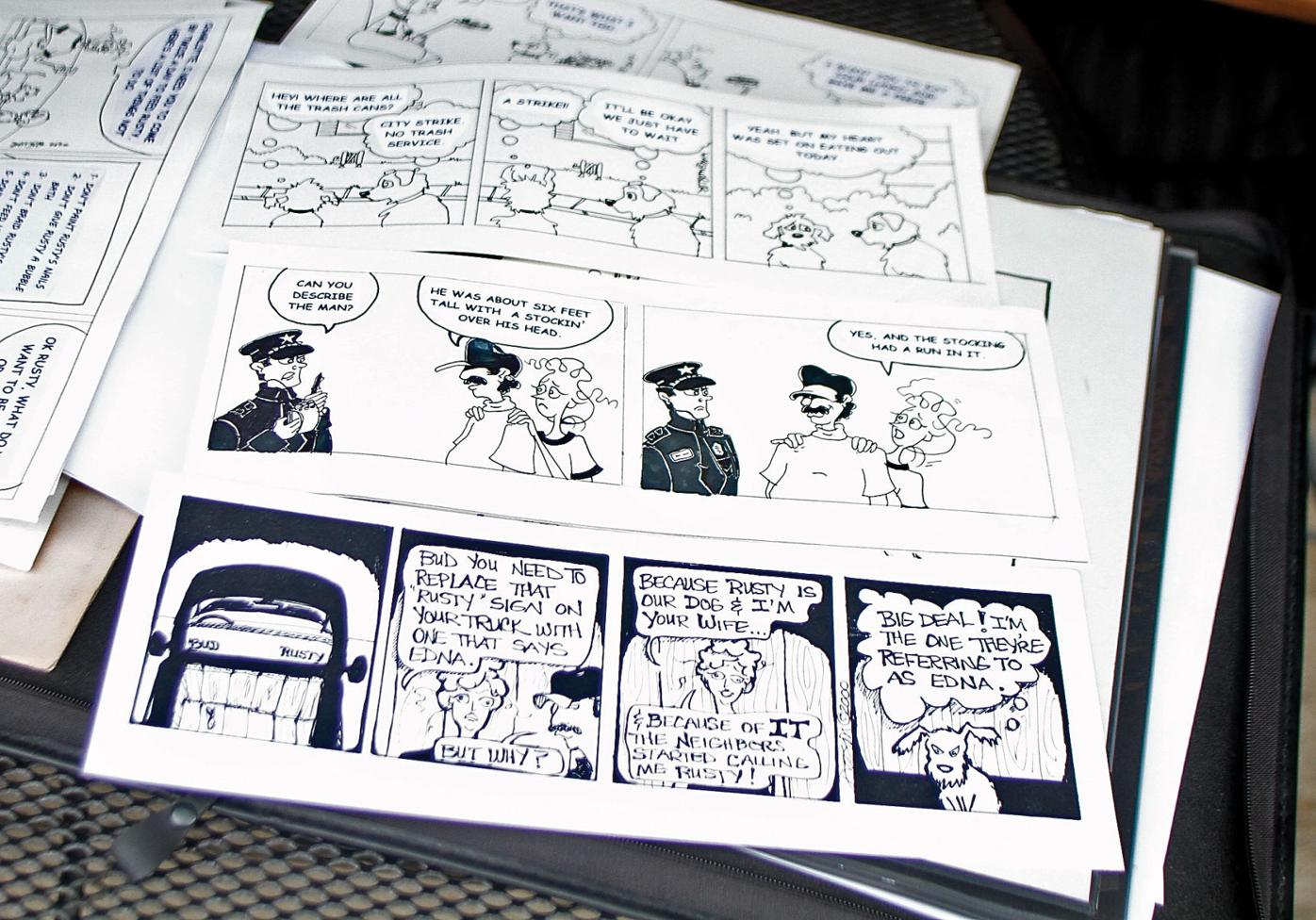 Dave and Doreen Dotson draw a comic series for newspapers