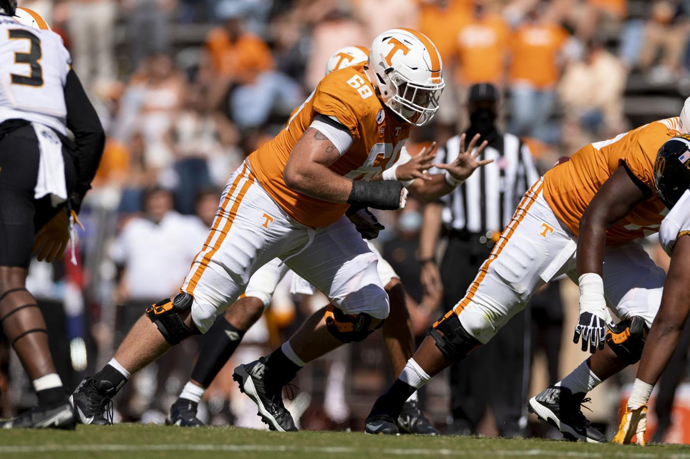 Tennessee offensive lineman Cade Mays
