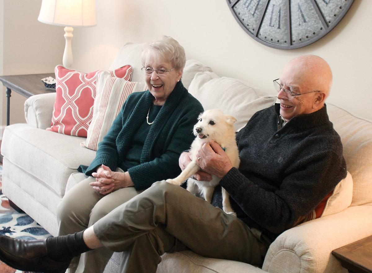 Fred and Marie Ibbetson with their dog Toto