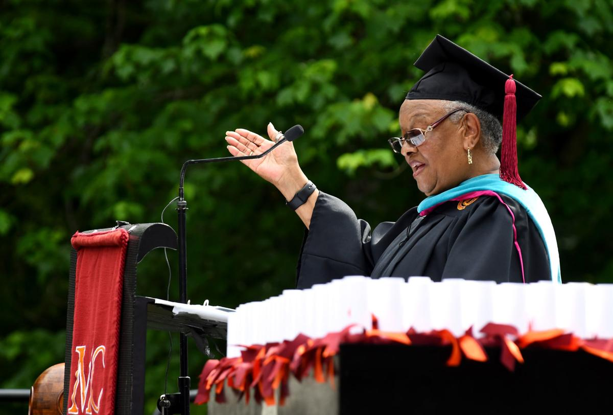 Shirley Carr Clowney tells the Maryville College Class of 2018 to 'rise up'