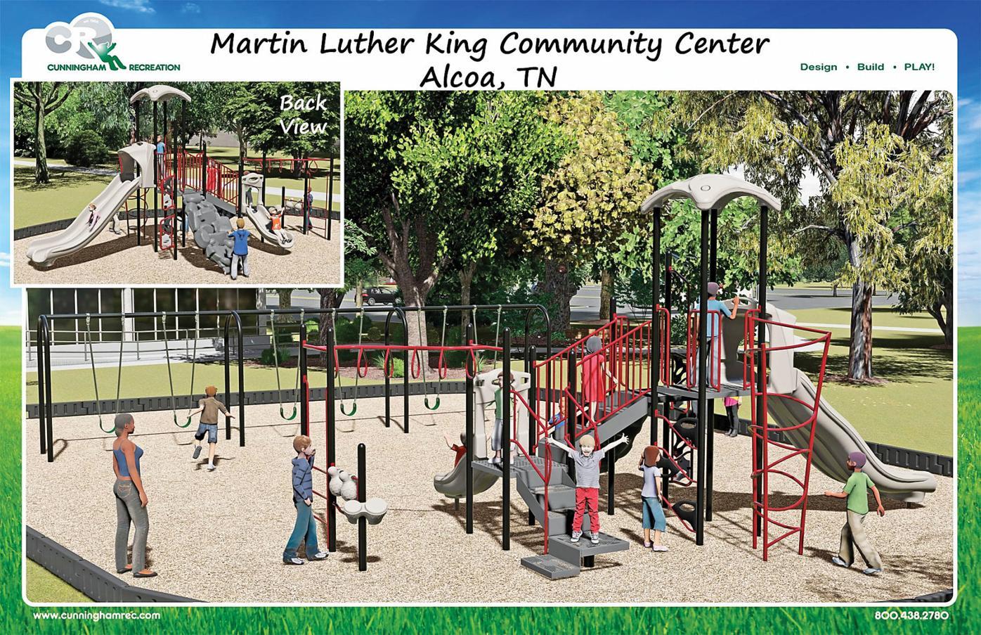 MLK Center playground rendering