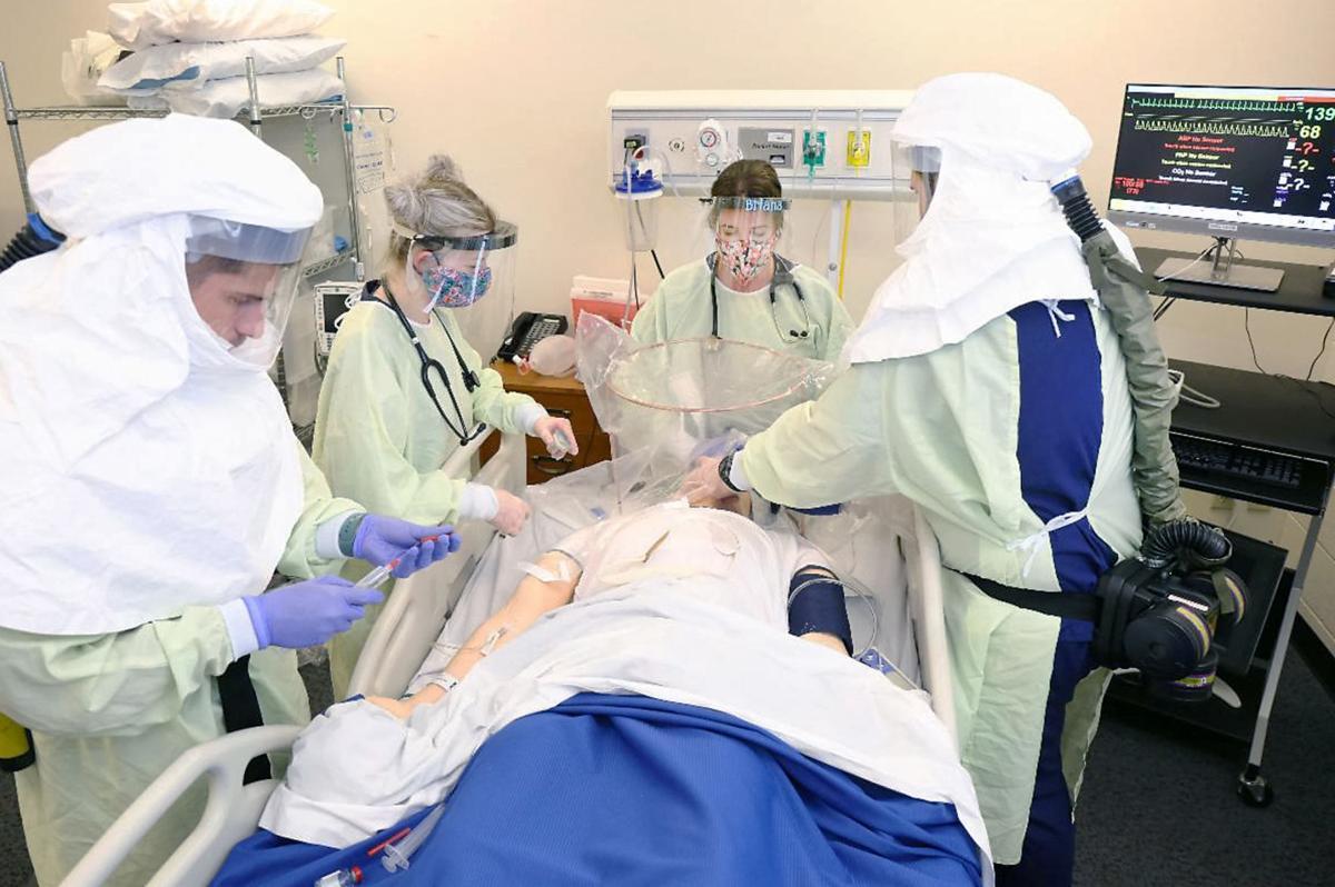 Blount Memorial Hospital nurses train for COVID-19 at Pellissippi State Community College's lab