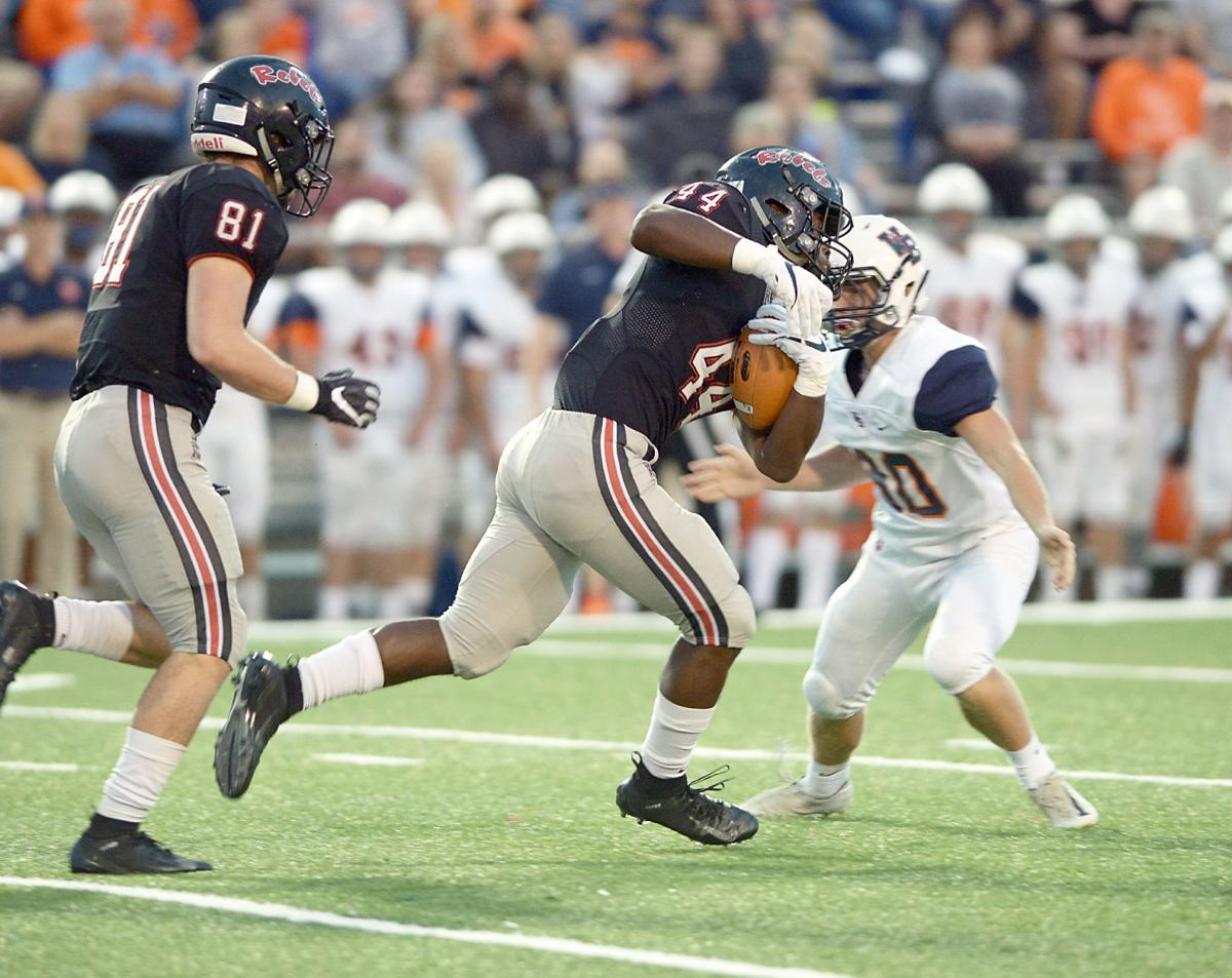 FOOTBALL: Maryville's Tee Hodge and Brody Sloan and William Blount's Joe Matossian