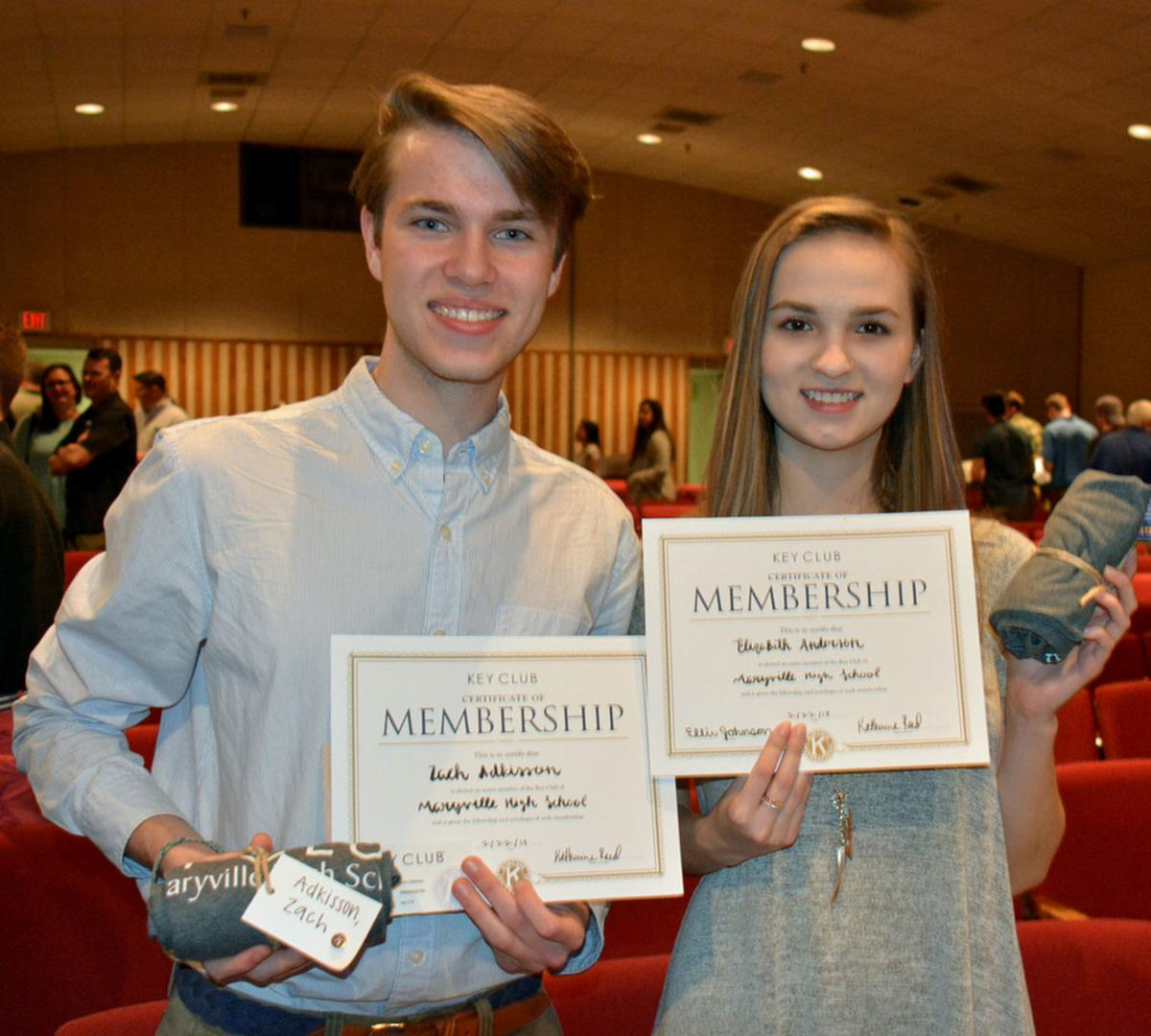 Maryville High School Key Club Inducts 55 New Members