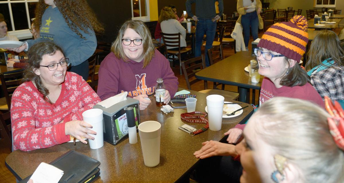 Maryville College students take a study break for 'Finals Breakfast'