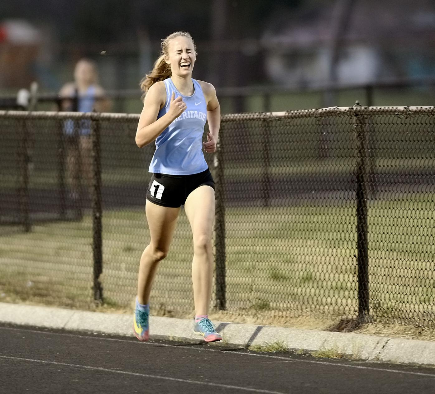 TRACK AND FIELD Heritage's Grace Adams
