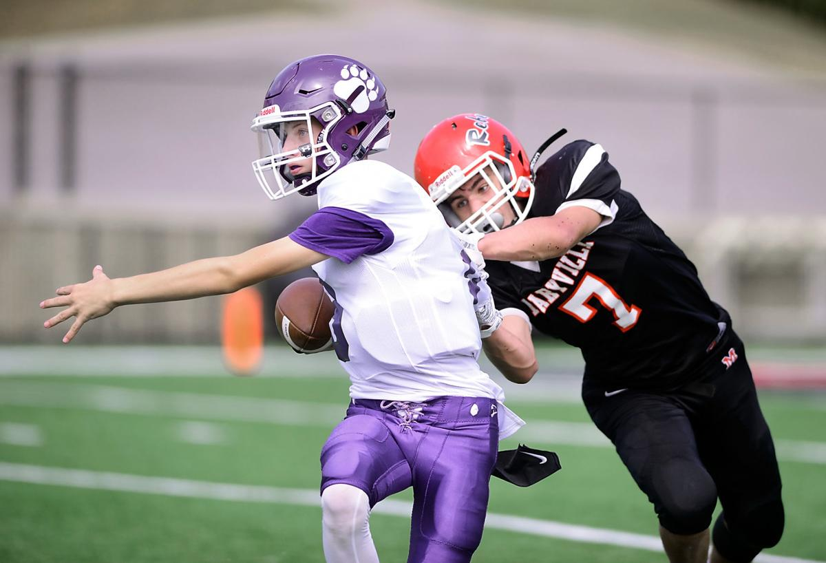 FOOTBALL: Maryville Middle School's Gage LaDue vs Sevier County Middle School