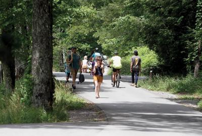 Hikers and bicyclists spend the day going around Cades Cove (2021)