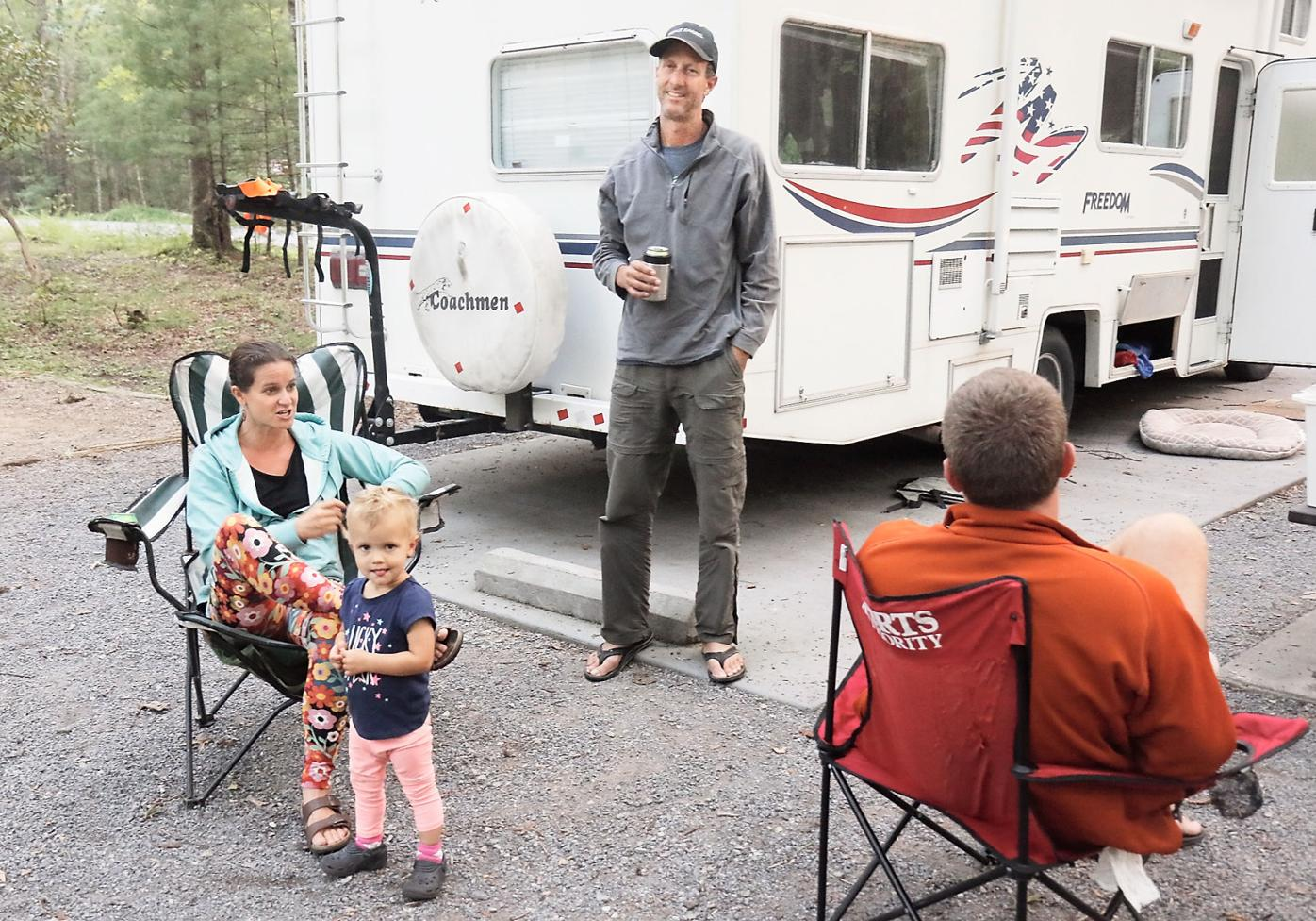 Floridians at Cades Cove Campground