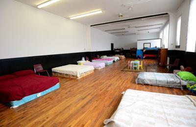 Beds await hurricane refugees