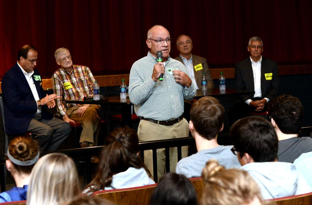 Maryville High School alumnus Mark Connell tells students to find something they are passionate about