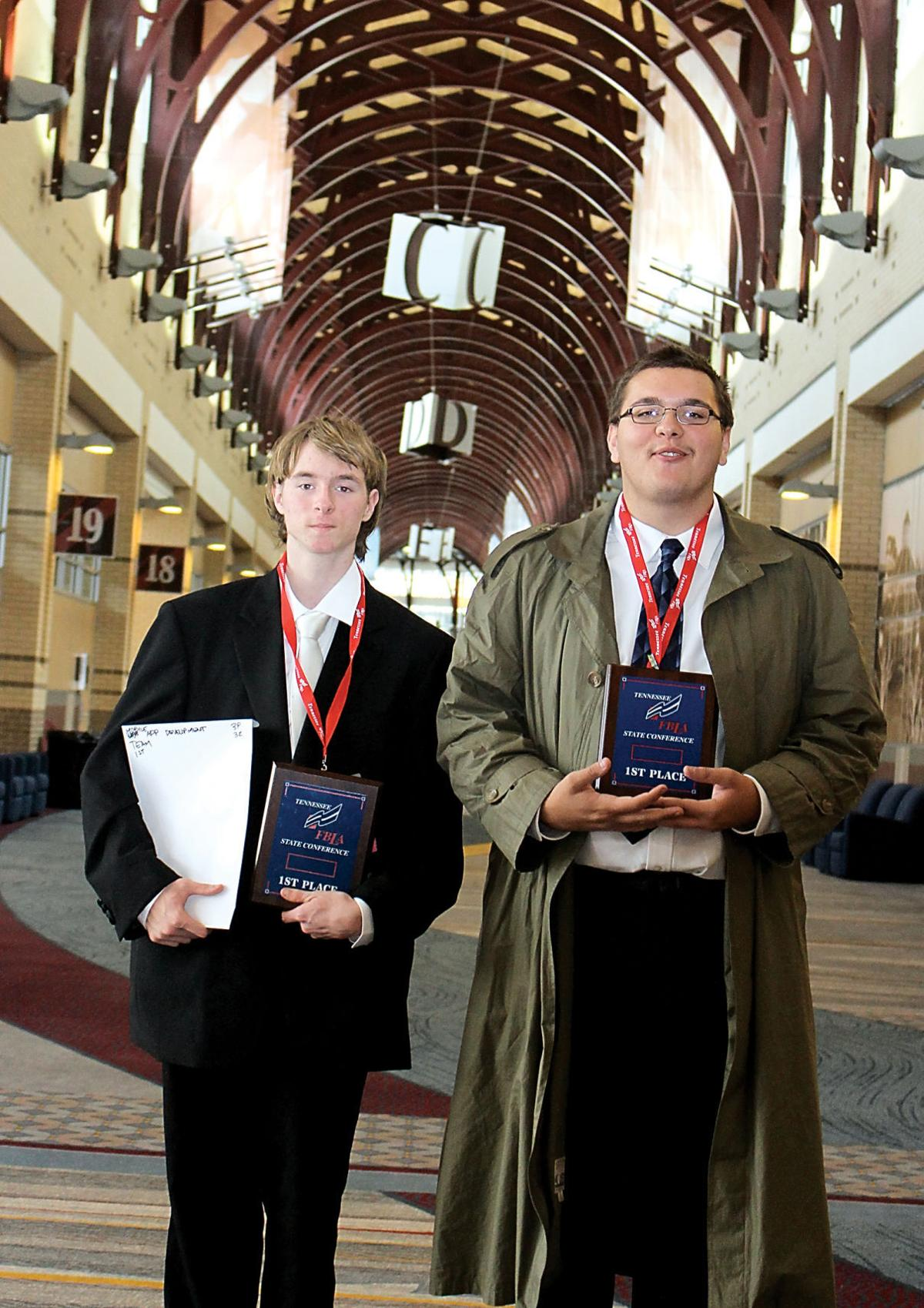 Heritage High School's Zackery Fleming and Ryan Ridenour, mobile app developers
