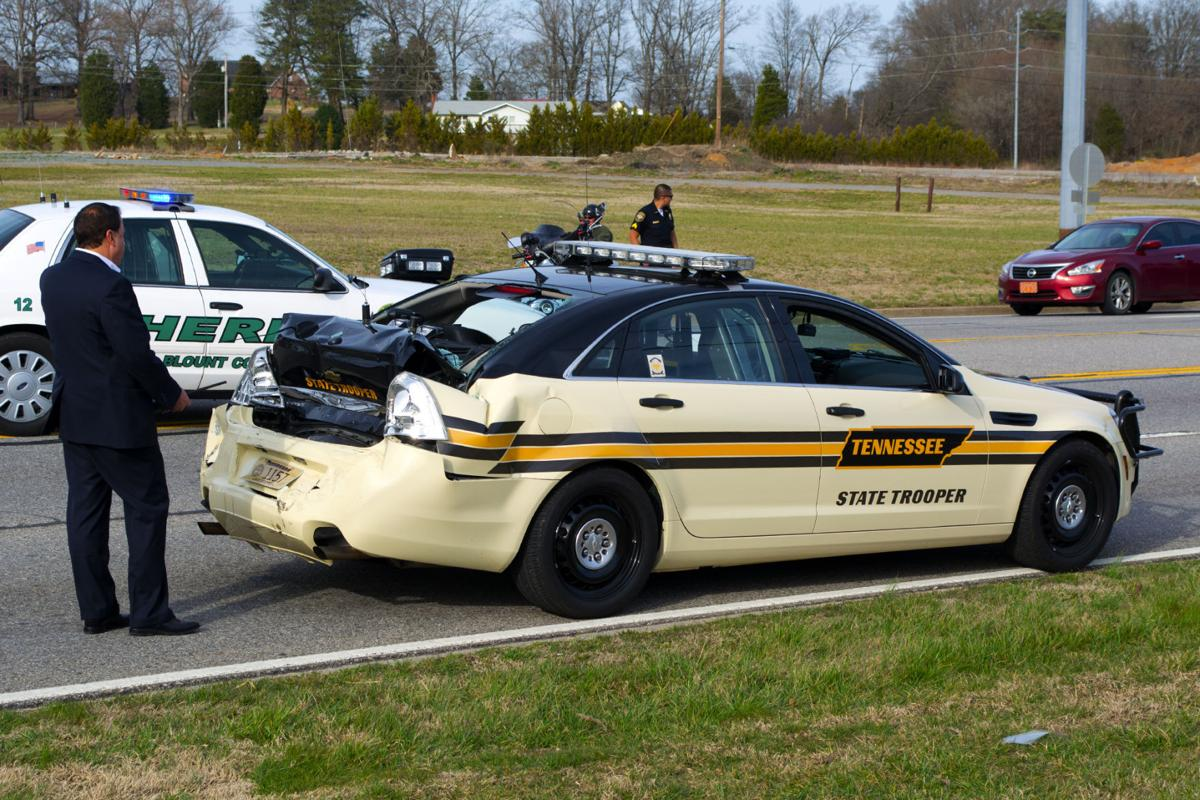 Wreck Damages Tennessee Highway Patrol Cruiser