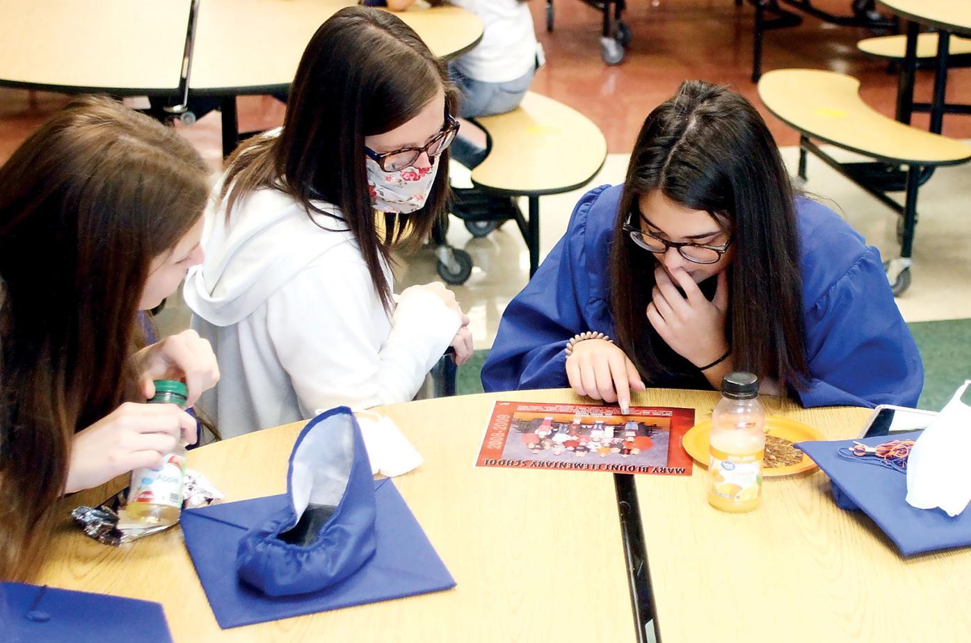 Mary Blount Elementary School teacher Kristen Wilson reminisces with Class of 2021