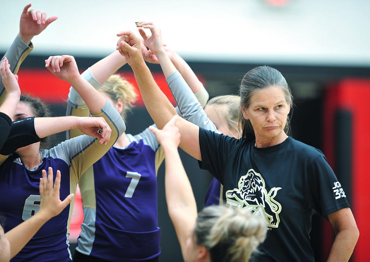 VOLLEYBALL: TKA's coach Kelly Peterson vs Maryville