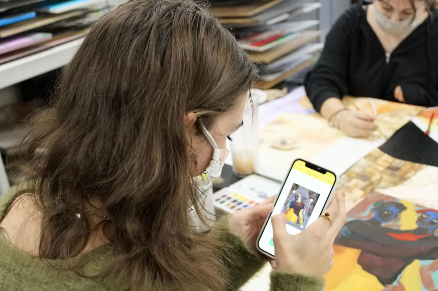 Artsonia app in action at Maryville High School