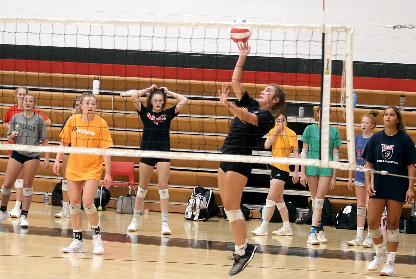 Maryville High School volleyball players