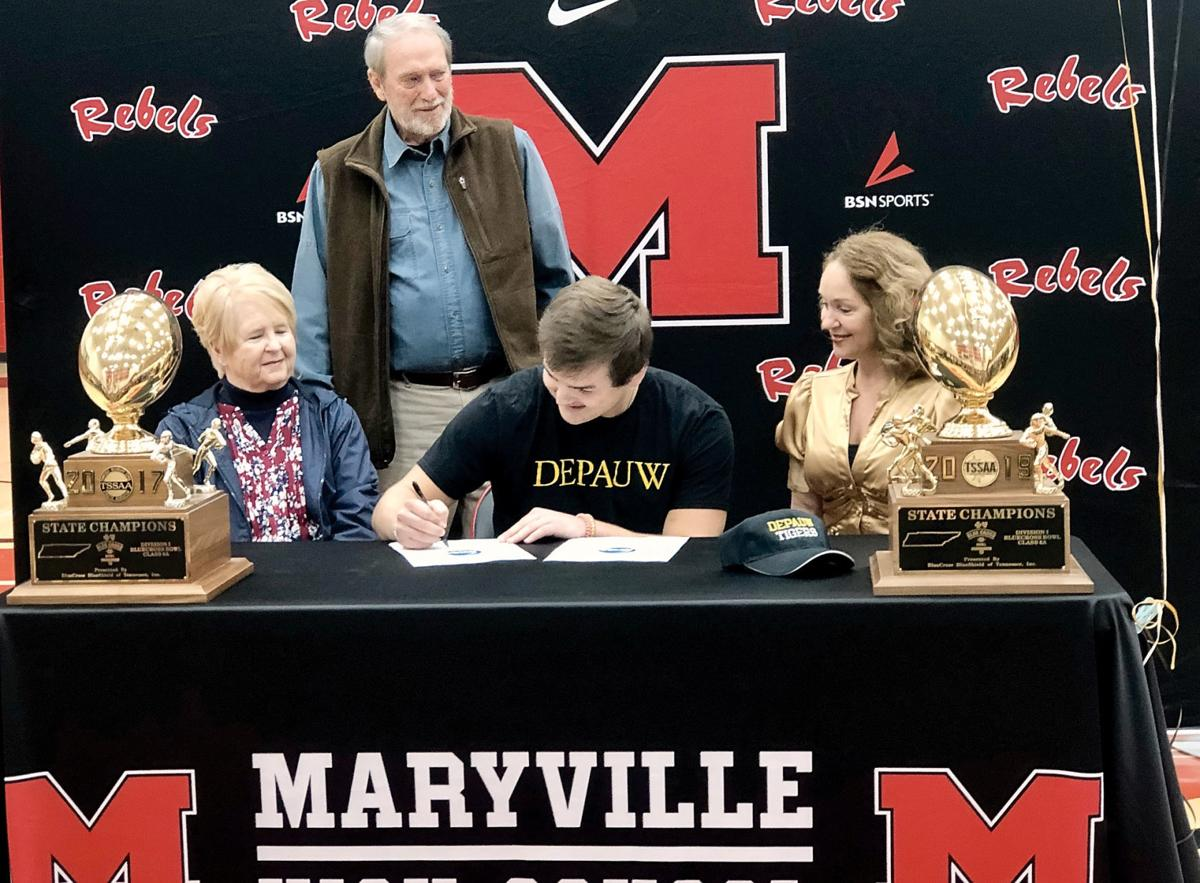 Seth Orren signs with DePauw University football