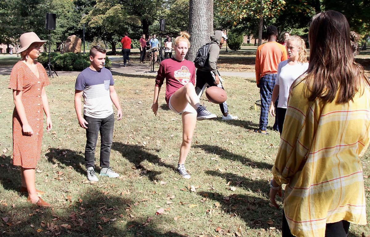 Students create their own game at Exercise Is Medicine on Campus rally at Maryville College